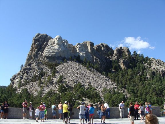 I was surprised at how...small...the sculpture at Mount Rushmore actually is!