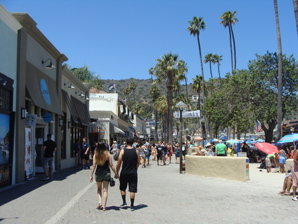 Just a small part of the shopping district in Avalon, Catalina Island