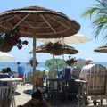 Eating outdoors at the Paradise Cove Beach Café