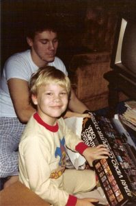 Scott (left) and Sean, Christmas 1982